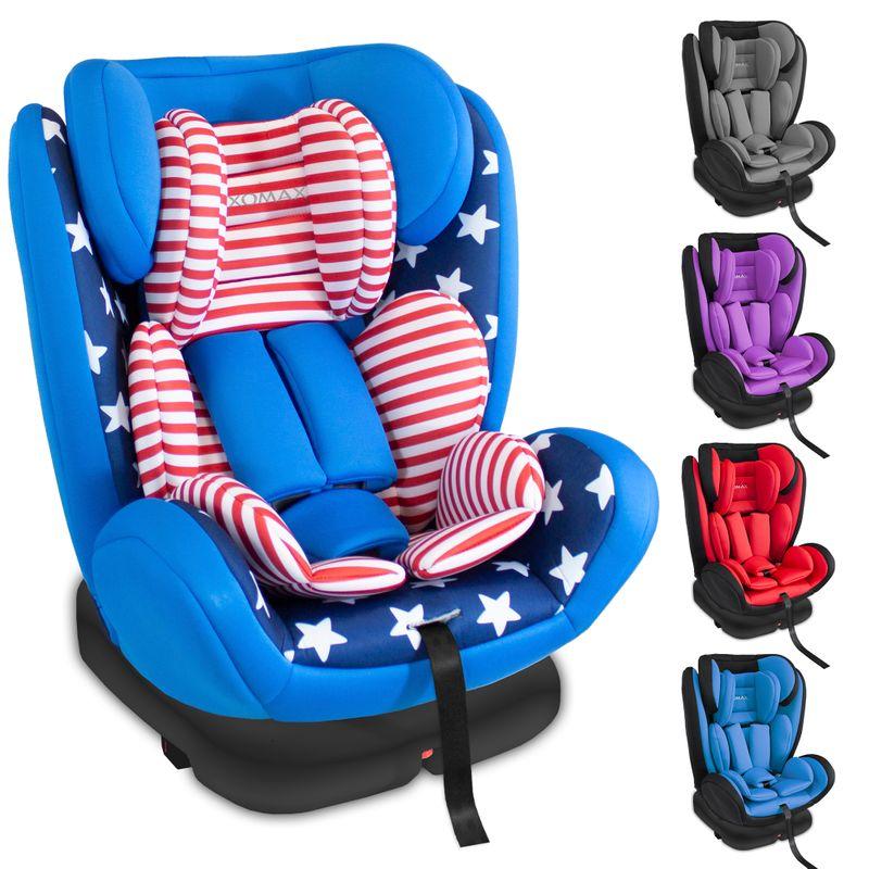 XOMAX XM-KI360 Auto Kindersitz mit 360° Drehfunktion und ISOFIX für Kinder von 0 - 36 kg (Klasse 0, I, II, III) – Bild 11