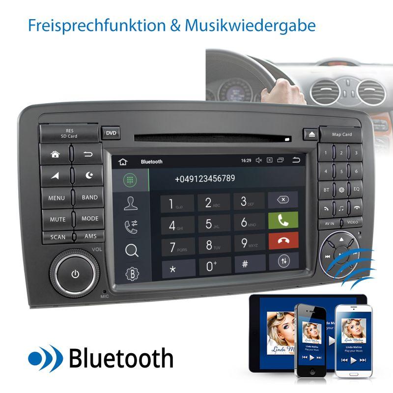 XOMAX XM-09ZA: 2DIN Autoradio mit Android 8.1 Navi 7 Zoll Touchscreen Monitor, Bluetooth, DVD, CD, SD und USB (passend für Mercedes) XM-09ZA A8 (B-Ware)   – Bild 6