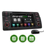 XOMAX XM-70BA: 1DIN Autoradio mit Android 9 Navi 7 Zoll Touchscreen Monitor, Bluetooth, DVD, CD, SD und USB (passend für BMW E46) 001