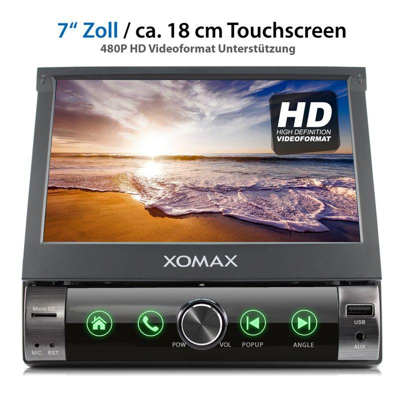 XOMAX XM-V762 1DIN Multimedia Autoradio mit SD, USB und BLUETOOTH – Bild 2