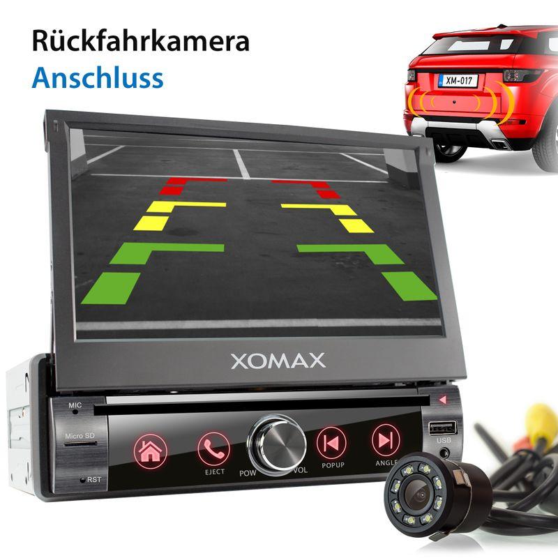 XOMAX XM-VN764 1DIN Navi Autoradio mit GPS, SD, USB und BLUETOOTH – Bild 4
