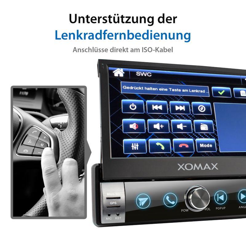 XOMAX XM-VN764 1DIN Navi Autoradio mit GPS, SD, USB und BLUETOOTH – Bild 7
