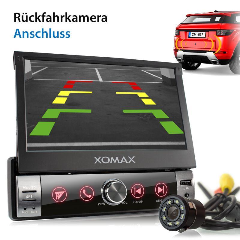 XOMAX XM-VN764 1DIN Navi Autoradio mit GPS, SD, USB und BLUETOOTH (B-Ware) – Bild 4
