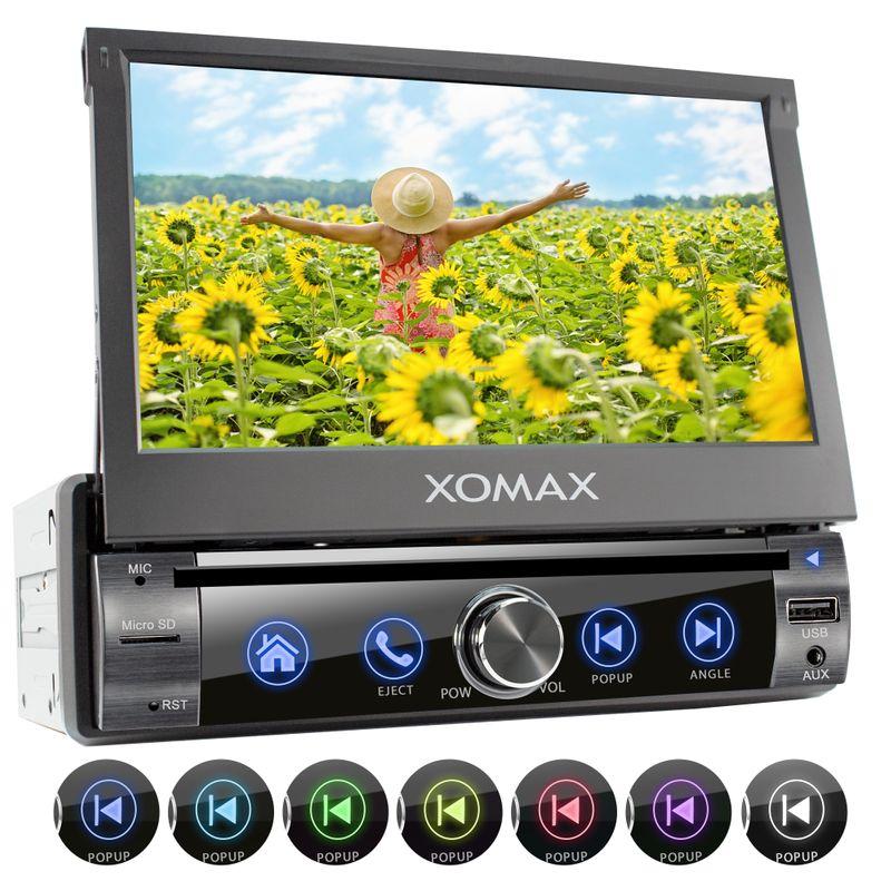 XOMAX XM-D761 1DIN Multimedia Autoradio mit DVD-/CD-Laufwerk, SD, USB und BLUETOOTH