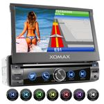 XOMAX XM-DN763 1DIN Navi Autoradio mit GPS, SD, USB und BLUETOOTH (B-Ware) 001
