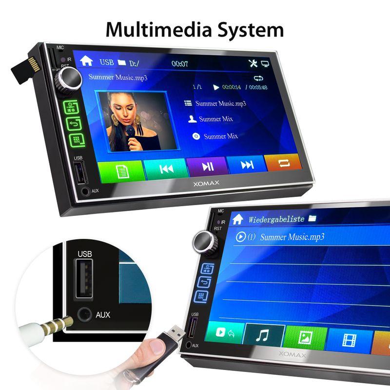 XOMAX XM-2VN752 (L2) 2DIN Navi Autoradio mit GPS, SD, USB und BLUETOOTH – Bild 4