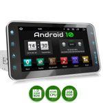 XOMAX XM-VA801: 1DIN Autoradio mit Android 10 Navi 8 Zoll Touchscreen Monitor, Bluetooth, SD und USB  001