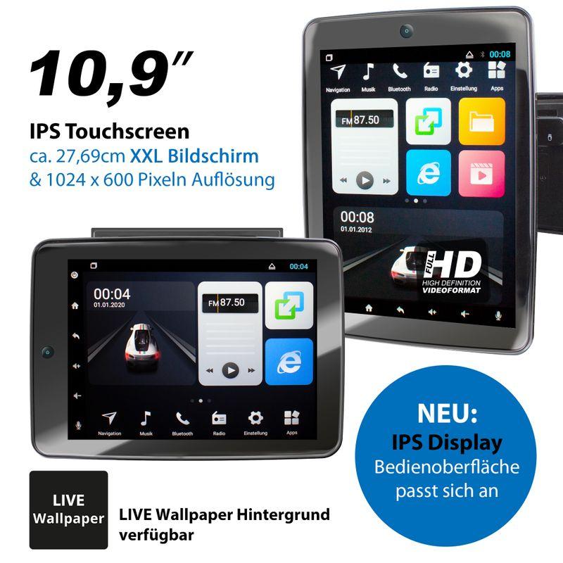 XOMAX XM-2VA1091: 2DIN Autoradio mit Android 8.1 Navi 10,9 Zoll IPS XXL IPS Touchscreen Monitor, Bluetooth, SD und USB   – Bild 10