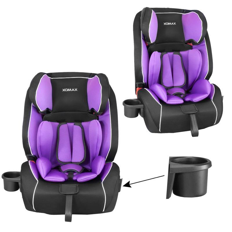 XOMAX HQ668 Auto Kindersitz mit ISOFIX und Flaschenhalter für Kinder von 9 - 36 kg (Klasse I, II, III) – Bild 5