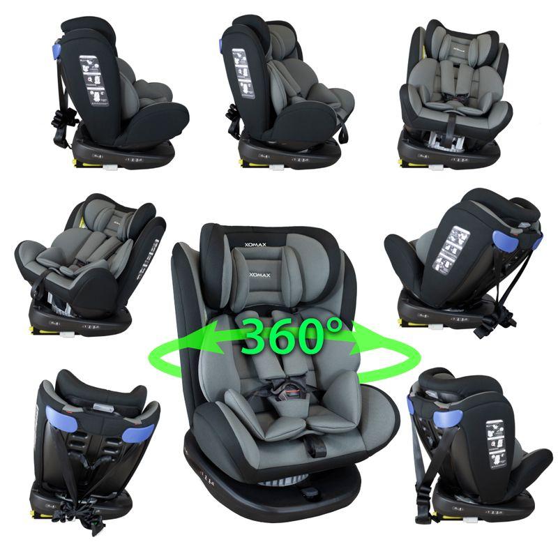 XOMAX 916 Auto Kindersitz mit 360° Drehfunktion und ISOFIX für Kinder von 0 - 36 kg (Klasse 0, I, II, III) – Bild 6