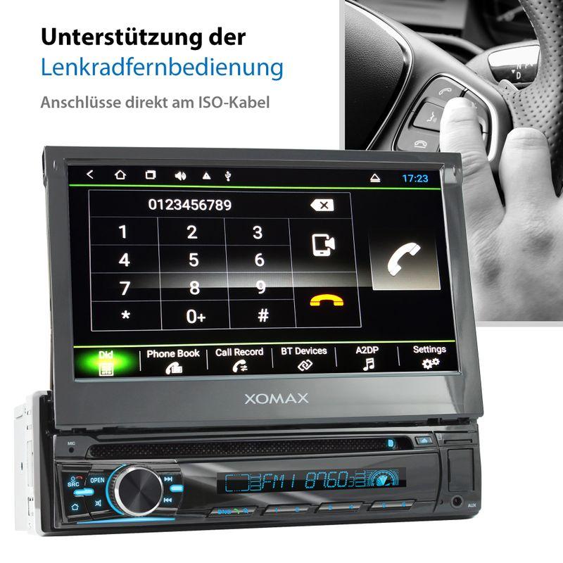 XOMAX XM-DA755: 1DIN Autoradio mit Android 8.1 Navi 7 Zoll Touchscreen Monitor, Bluetooth, DVD, CD, SD und USB  – Bild 8