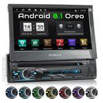 XOMAX XM-DA755: 1DIN Autoradio mit Android 8.1 Navi 7 Zoll Touchscreen Monitor, Bluetooth, DVD, CD, SD und USB  001