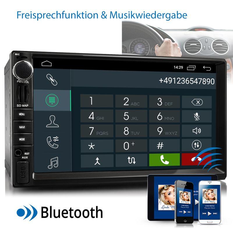 XOMAX XM-2VA757: 2DIN Autoradio mit Android 10 Navi 7 Zoll Touchscreen Monitor, Bluetooth, SD und USB – Bild 6