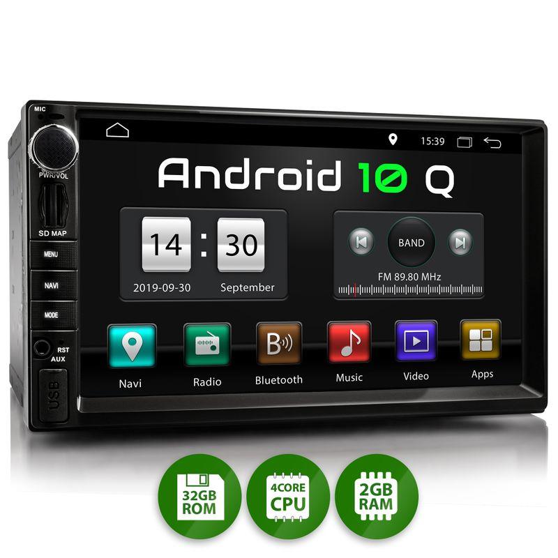XOMAX XM-2VA757: 2DIN Autoradio mit Android 10 Navi 7 Zoll Touchscreen Monitor, Bluetooth, SD und USB