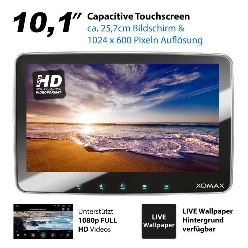 XOMAX XM-2DA1008: 2DIN Autoradio mit Android 9 Navi 10,1 Zoll Touchscreen Monitor, Bluetooth, DVD, CD, SD und USB  – Bild 11
