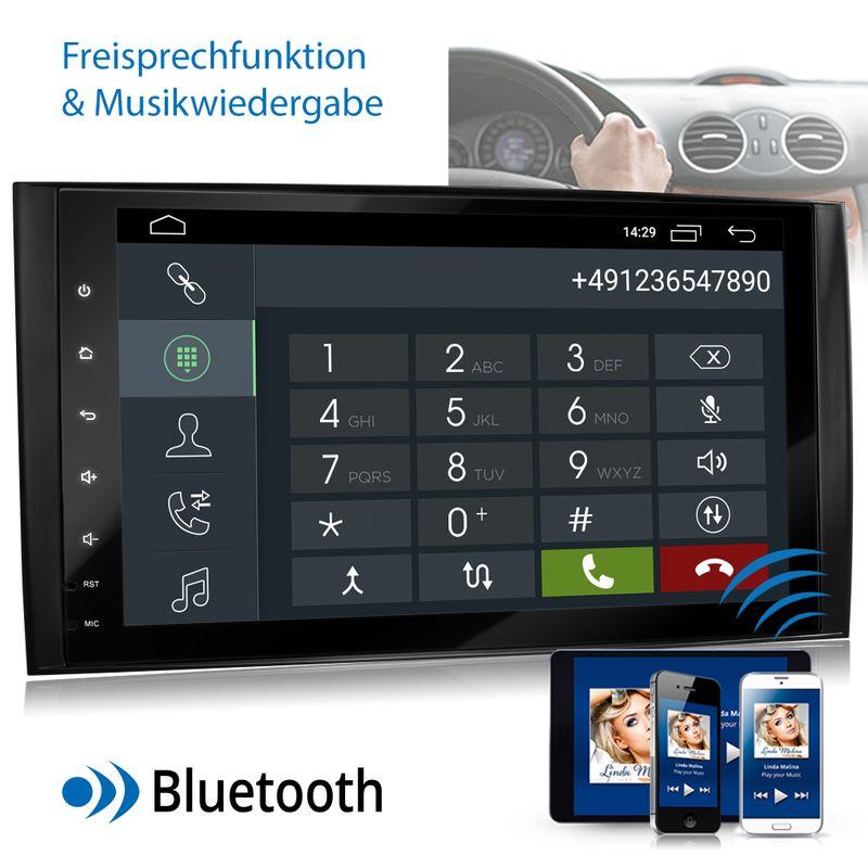 XOMAX XM-V11ZA: 2DIN Autoradio mit Android 10 Navi 9 Zoll Touchscreen Monitor, Bluetooth und USB (passend für Mercedes A/B-Klasse) – Bild 6