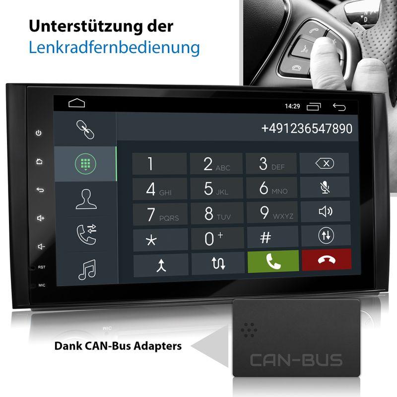 XOMAX XM-V11ZA: 2DIN Autoradio mit Android 10 Navi 9 Zoll Touchscreen Monitor, Bluetooth und USB (passend für Mercedes A/B-Klasse) – Bild 7