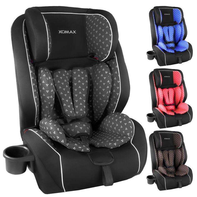XOMAX HQ668 Auto Kindersitz mit ISOFIX und Flaschenhalter für Kinder von 9 - 36 kg (Klasse I, II, III) – Bild 1