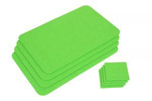 GRÄWE Platzmatten-Set  4 Stück grün