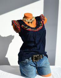 Rosalita McGee romantisches Shirt Top Navas, verspielt Gr. S 001