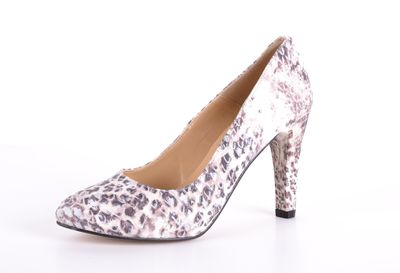 Chillany elegante Damen Pumps creme-braun Gr. 36