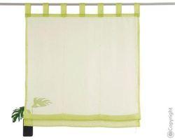 My home transparents Raffrollo Pebel mit Schlaufen in grün 140/45 cm 001
