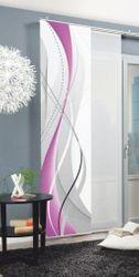 Home Wohnideen 1x Schiebevorhang Digitalbedruckt halbtransparent H/B 245x60 cm 001
