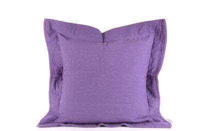 Heine home 2er Pack Deko Kissenhülle Couch Kissenbezug mit Stehsaum violett