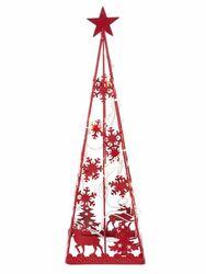 Heine home LED-Weihnachtsbaum in rot ca. 40/12/12 cm 001