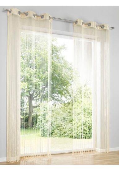 Heine Home Fadenstore Vorhang Raumteiler Insektenschutz sand Ösen H/B 160x95 cm