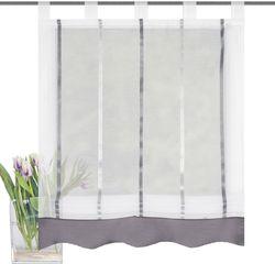 Home Wohnideen Raffrollo KATHY transparent Schlaufen Glanzeffekt H/B 140x120 cm 001
