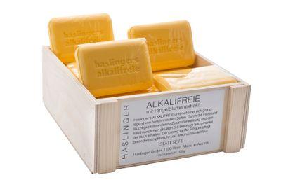 Haslinger Alkalifreie hochwertige Pflanzenöl Seife mit Ringelblumenextrakt 100g