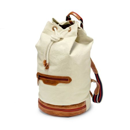 EASTPORT - Duffel Backpack - Creme-Weiß
