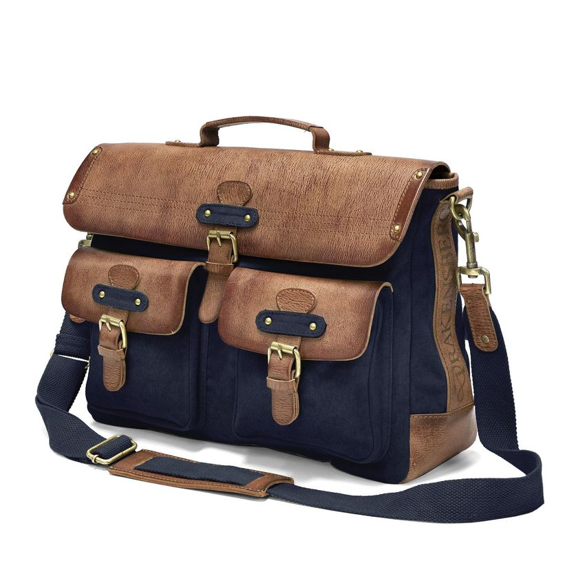 KIMBERLEY - Messenger Laptop Bag - Navy Blue