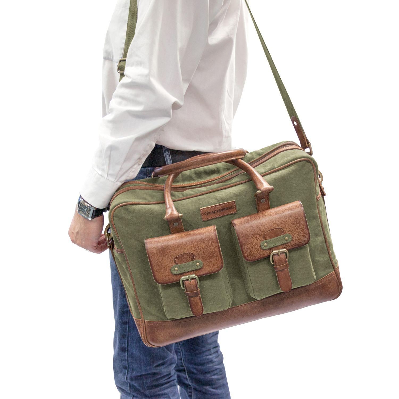 Koffer, Taschen & Accessoires Drakensberg Kimberley Travel Briefcase Grün Umhängetasche Reise Tasche Vintage