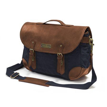 Satchel Bag - Navy-Blue