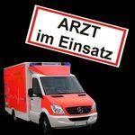 2x Magnetschild Arzt - Automagnet Notarzt