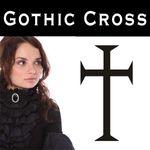 Gothic Cross Wandtattoo, Kreuz Autoaufkleber
