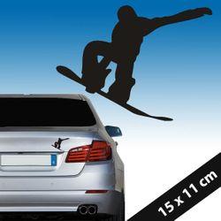 Aufkleber Snowboarder Sticker 15 x 11 cm Autoaufkleber