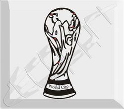 Wandsticker  World Cup , Fußball als Wandtattoo mit Strass
