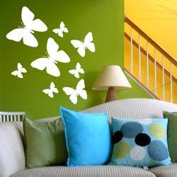 8er SET  Schmetterling - Butterfly 01  Wandtattoo Schlafzimmer