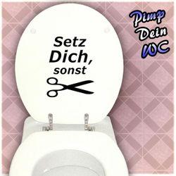 Aufkleber Fun  Setz Dich  für die Toilette