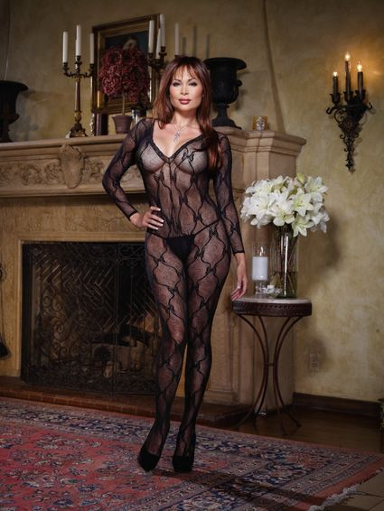 Bodystocking Catsuit - Bordeaux - Queen Size