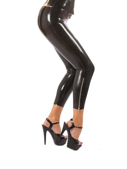 Latex Zip Leggings
