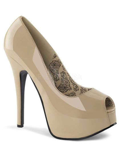 Plateau Peeptoe Lackcream