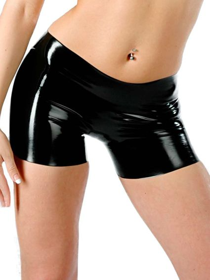Latex Damen Short - schwarz
