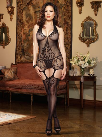 Olympia Neckholder Bodystocking - Queen Size