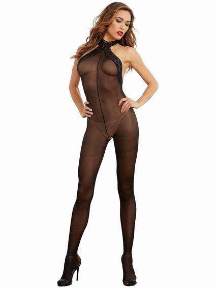 Nylon Catsuit Bodysuit OS