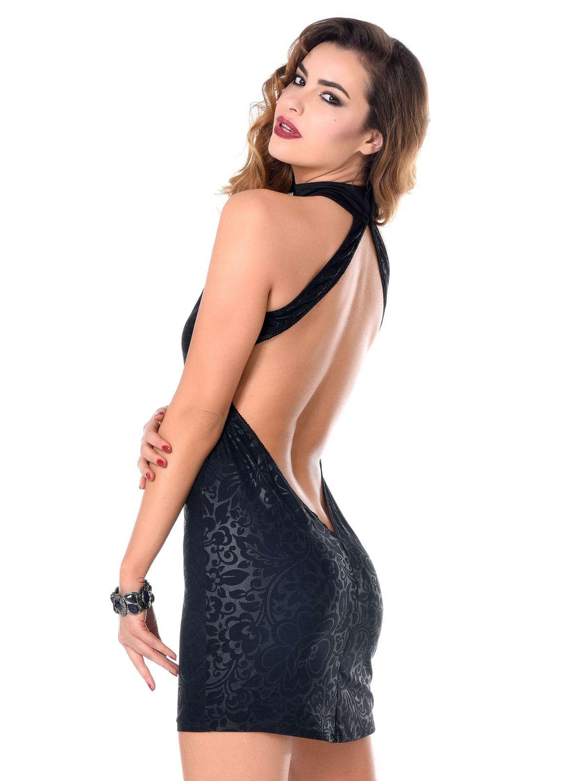 Stretch Lycra Cocktailkleid Sexy Dress schwarz Kurzes Cocktail Kleid ...