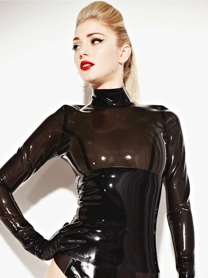 Latex Damen Bluse
